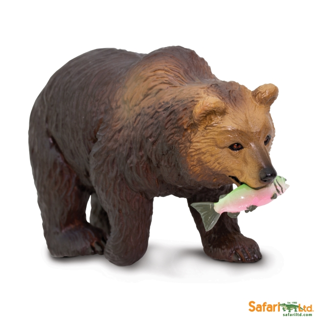 Grizzly Bear with Fish Vinyl Figure