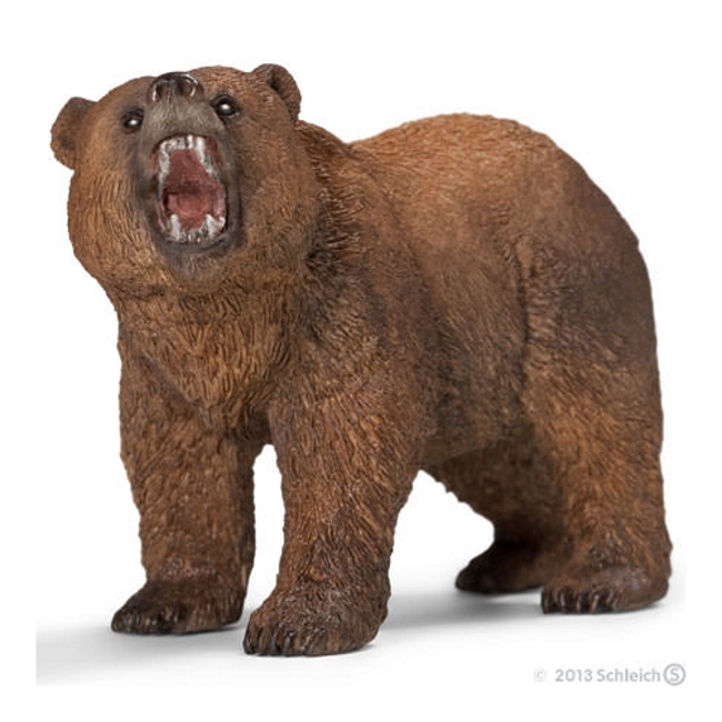 Grizzly Bear Roaring Vinyl Figure