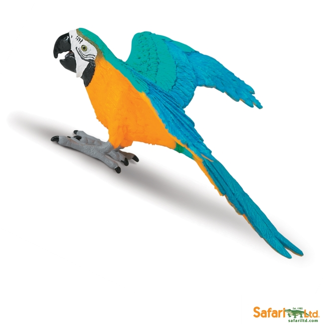 Gold and Blue Macaw Vinyl Figure