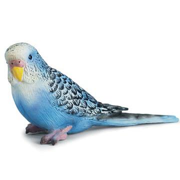 Blue Budgie Parakeet Vinyl Figure