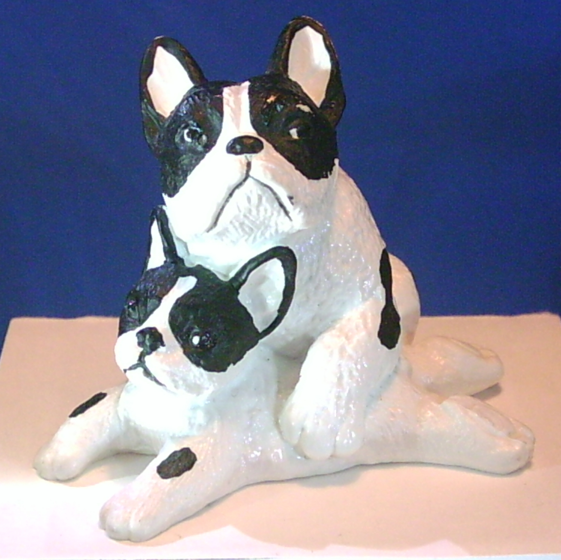 Two French Bulldogs Vinyl Figure
