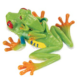 Red-eyed Tree Frog with Baby Vinyl Figure