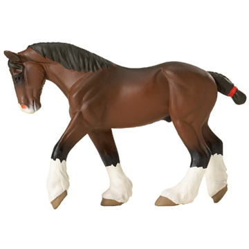 Clydesdale Horse Mare Vinyl Figure
