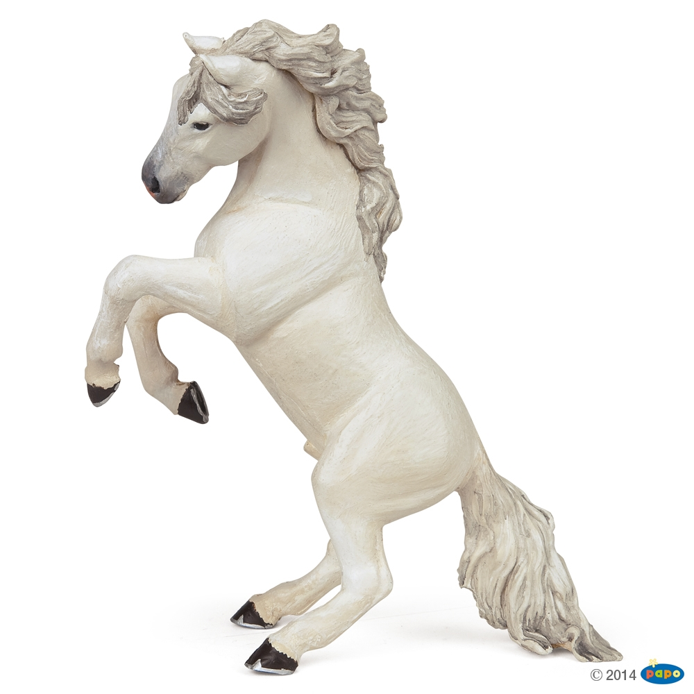 Reared-up White Horse Vinyl Figure