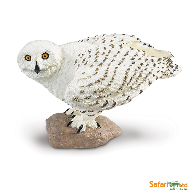 Crouched Snowy Owl Vinyl Figure
