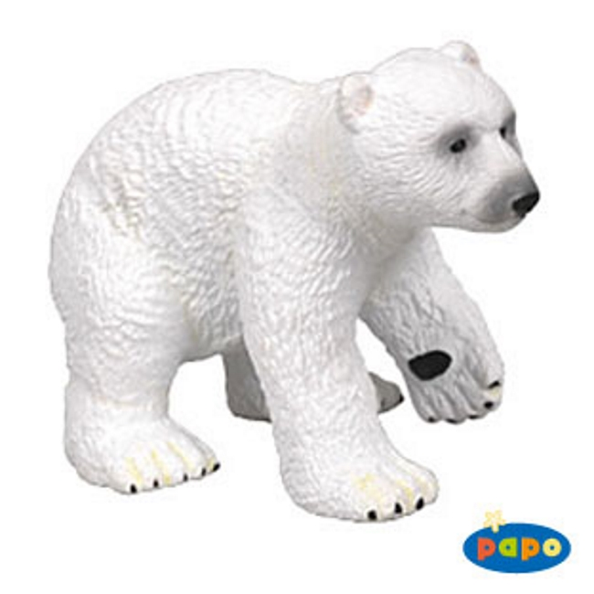 Playing Polar Bear Cub Vinyl Figure
