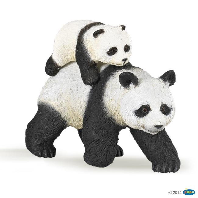 Panda Adult with Cub Vinyl Figure