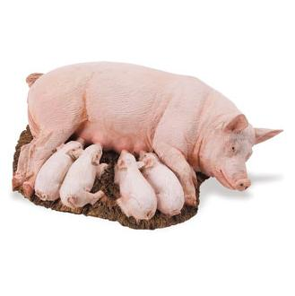 Pig Sow with Piglets Vinyl Figure