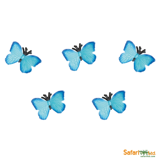 Five Micro Blue Butterflies Vinyl Figure