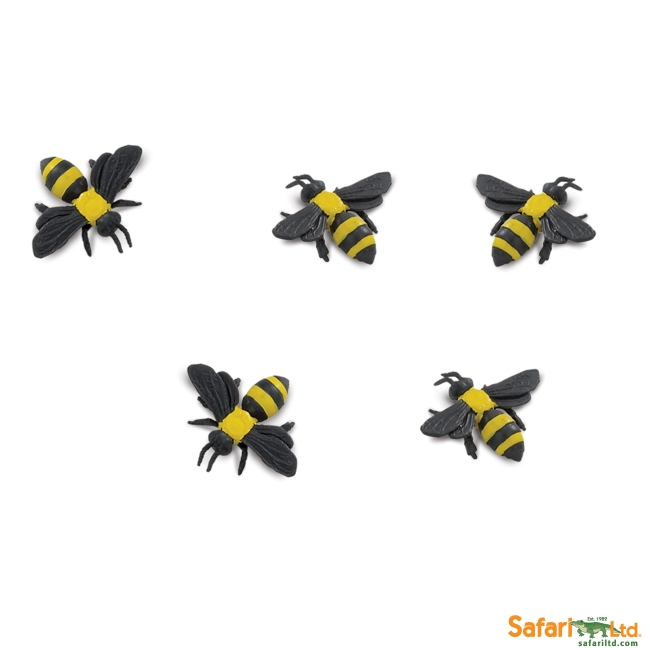 Five Micro Bumble Bees Vinyl Figure
