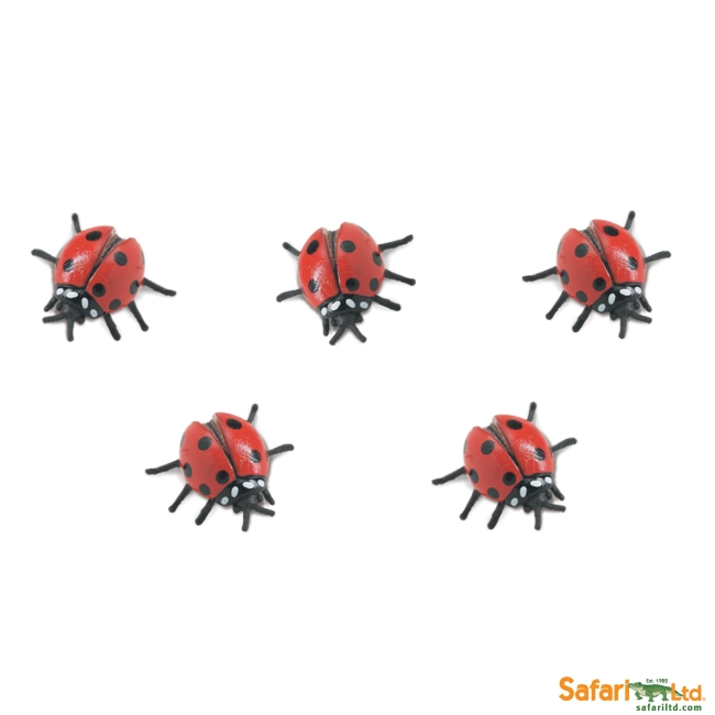 Five Micro Ladybugs Vinyl Figure